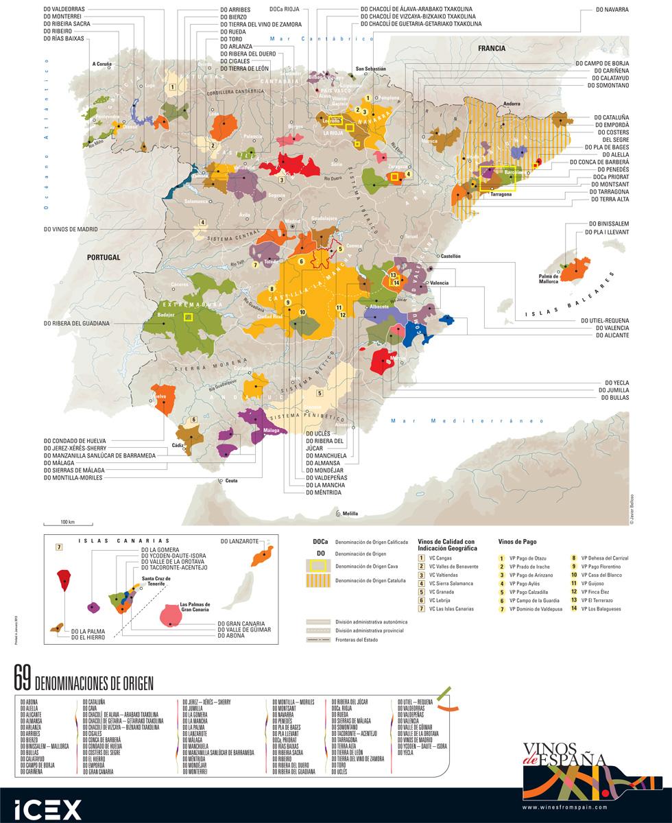 Weinregionen Spaniens